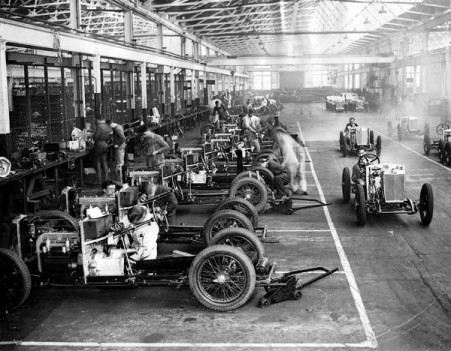 MG midget production line