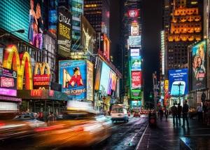 lit up billboards