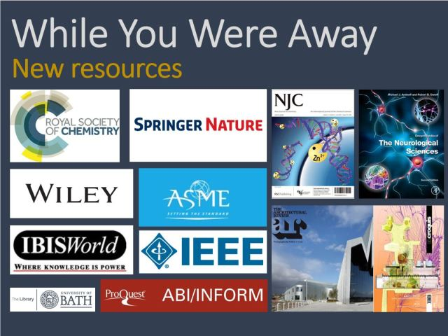 While You Were Away - e-Resources