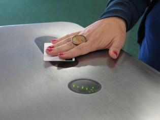 Library gates swipe card access