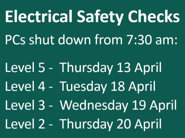 electrical safety checks 2017