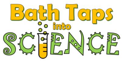 bath taps into science logo