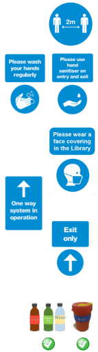 Library regulations infographic